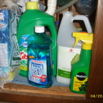 assortment of household chemicals