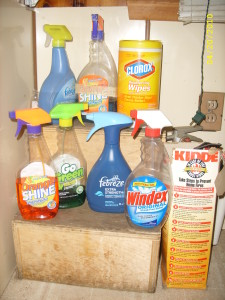 House hold cleaning supplies