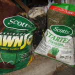 lawn soil and fertilizer